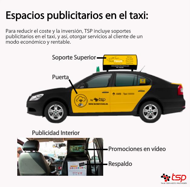 publicidad en el taxi